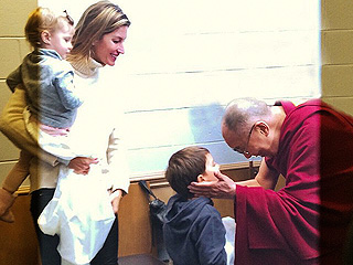 Gisele Bündchen's Kids Meet the Dalai Lama 