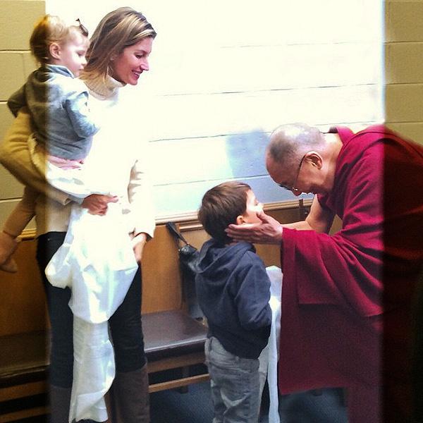 Gisele Bundchen kids meet Dalai Lama