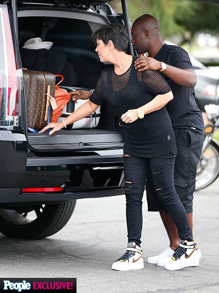 Kris Jenner Cuddles with Corey Gamble After Vacation in Mexico (PHOTOS)| Couples, Bruce Jenner, Kim Kardashian, Kris Jenner