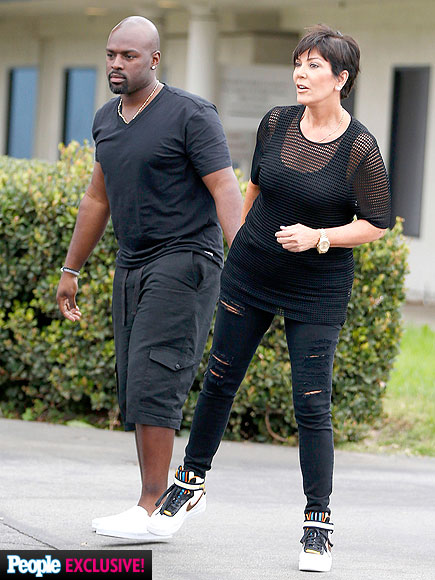Kris Jenner Cuddles with Corey Gamble After Vacation in Mexico (PHOTOS)