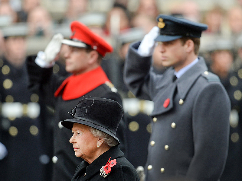 Princess Kate Watches as the Royals Lead Tributes to Fallen Servicemen