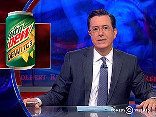 WATCH: Stephen Colbert 'Salutes' the Creators of Doritos-Flavored Mountain Dew | Stephen Colbert