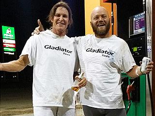 Bruce Jenner Flips Truck in Crazy Car Race Through Desert