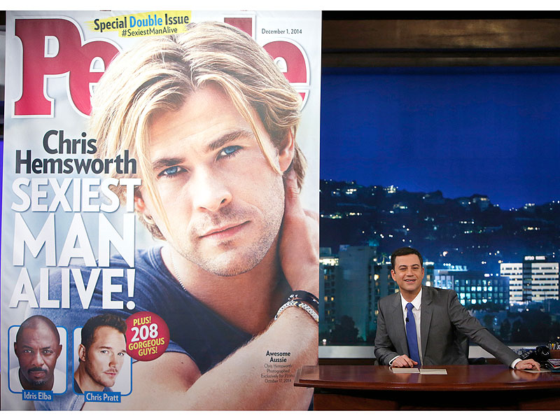 Chris Hemsworth: I Learned to Be Sexy from Matt Damon| Jimmy Kimmel Live, Sexiest Man Alive, Sexiest Man Alive, Chris Hemsworth, Jimmy Kimmel