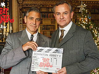 PHOTO: See George Clooney on the Set of Downton Abbey