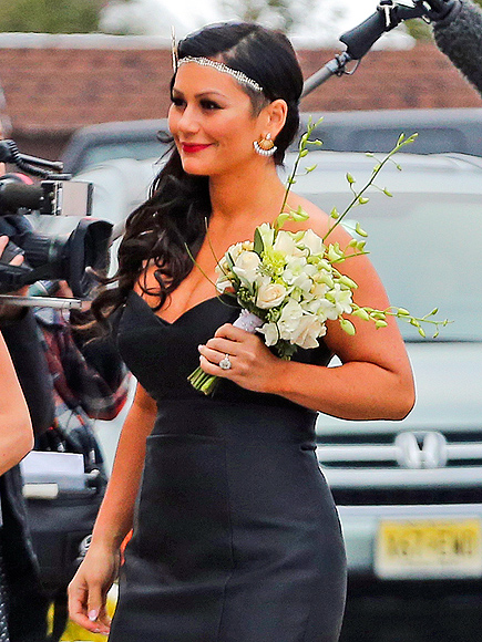 See Snooki on Her Wedding Day, Plus JWoww's Bridesmaid Dress (PHOTOS)| Wedding, Jenni Farley, Jionni LaValle, Nicole Polizzi