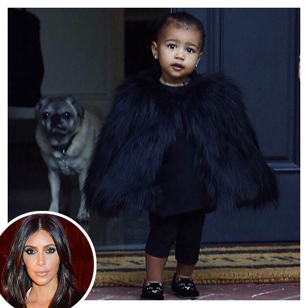 Kim Kardashian posts North West photo