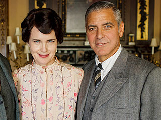 Watch George Clooney Seduce Elizabeth McGovern on Downton Abbey