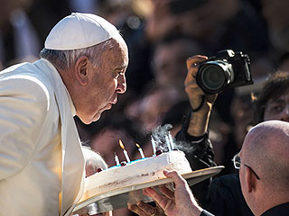 Pope Francis Celebrates His 78th Birthday with Cake and Tango