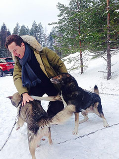 These Dogs Cuddling Benedict Cumberbatch Are Living Your Dream