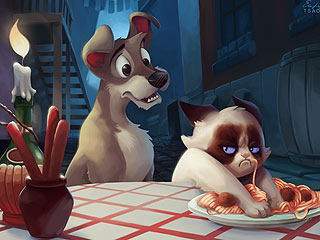PHOTOS: See Grumpy Cat in Your Favorite Disney Movies