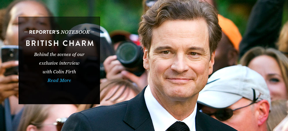 British Charm: Inside Our Exclusive Interview with Colin Firth