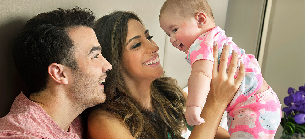 A Behind the Scenes Look at Our Exclusive Photo Shoot with Kevin and Danielle Jonas and Their New Baby