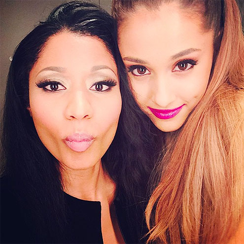 PRETTY PUCKERS photo | Ariana Grande, Nicki Minaj
