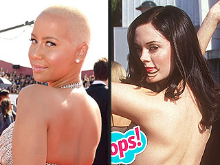 VMAs 2014: Amber Rose Takes on Rose McGowan's Iconic Butt-Baring Moment