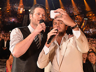 Blake Shelton & Luke Bryan Have an Epic Selfie Fail, Spoof Daft Punk | Blake Shelton, Luke Bryan