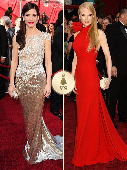 Oscar Gown Showdown: Sandra Bullock, Nicole Kidman