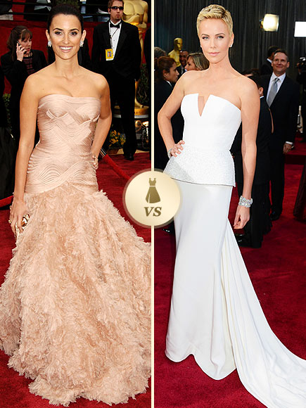 Oscar Gown Showdown: Penelope Cruz, Charlize Theron