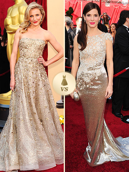 Oscar Gown Showdown: Cameron Diaz, Sandra Bullock
