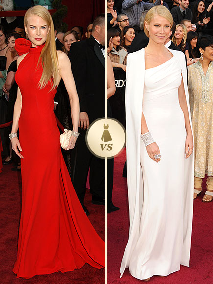 Oscar Gown Showdown: Nicole Kidman, Gwyneth Paltrow