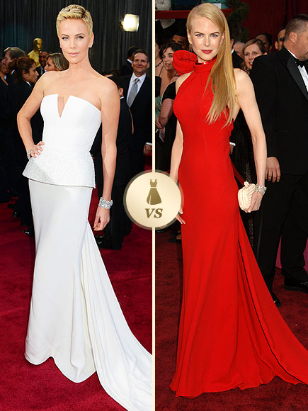 Oscar Gown Showdown: Charlize Theron, Nicole Kidman