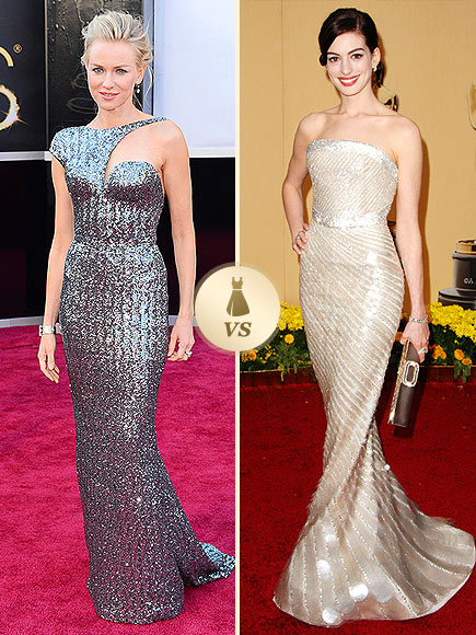Oscar Gown Showdown: Naomi Watts, Anne Hathaway