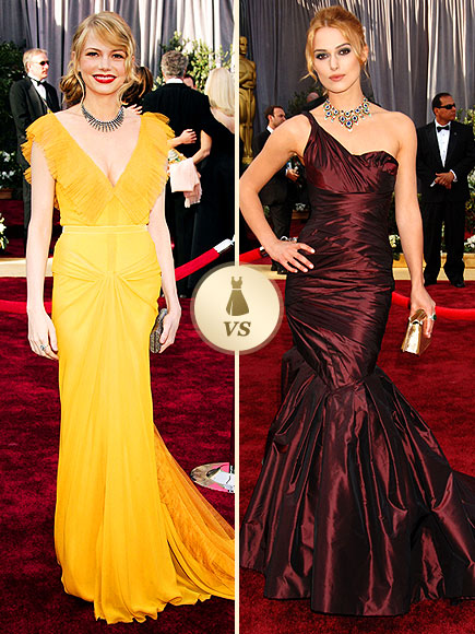 Oscar Gown Showdown: Michelle Williams, Keira Knightley