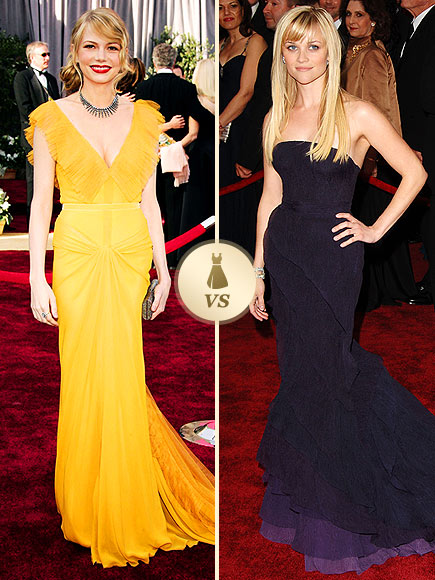 Oscar Gown Showdown: Michelle Williams, Reese Witherspoon