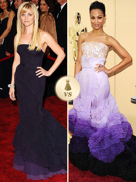 Oscar Gown Showdown: Reese Witherspoon, Zoë Saldana