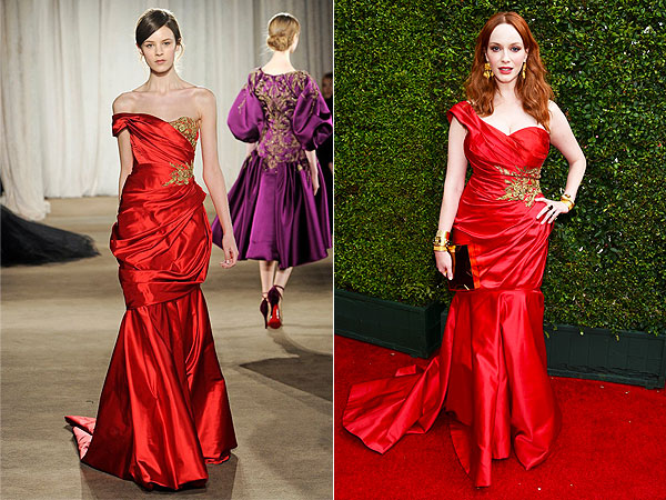 Christina Hendricks Emmys Dress