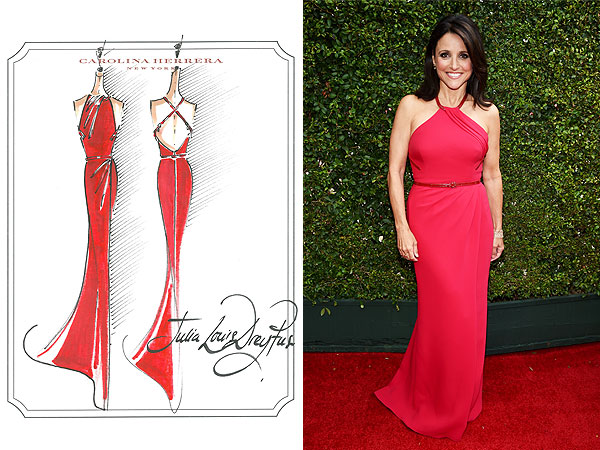 Julia Louis-Dreyfus Carolina HErrera