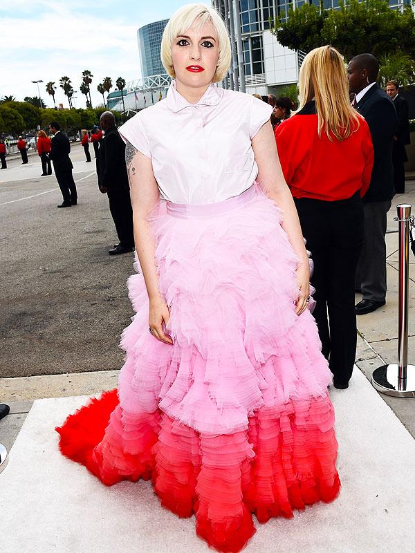Lena Dunham Emmy Awards Dress
