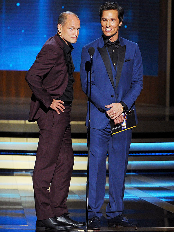Woody Harrelson and Matthew McConaughey matching Emmys suits