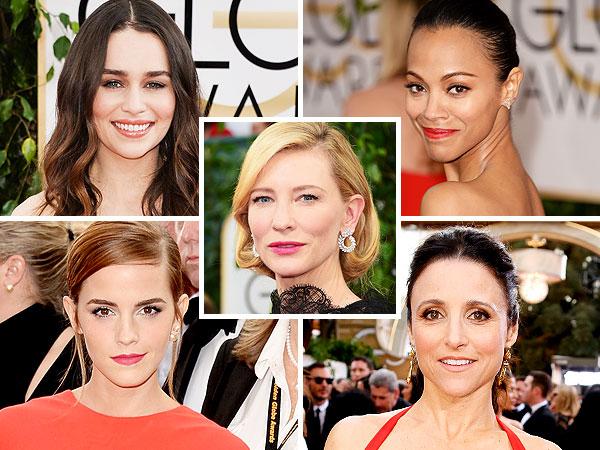 Emilia Clarke, Zoë Saldana, Cate Blanchett, Emma Watson and Julia Louis-Dreyfus Golden Globes beauty