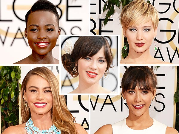 Lupita Nyong'o, Jennifer Lawrence, Zooey Deschanel, Sofia Vergara and Rashida Jones Golden Globes beauty