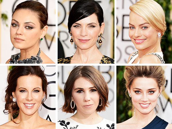 Mila Kunis, Julianna Margulies, Margot Robbie, Kate Beckinsale, Zosia Mamet and Amber Heard Golden Globes beauty