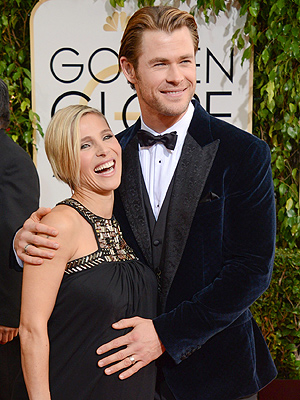Golden Globes Chris Hemsworth Elsa Pataky Pregnant