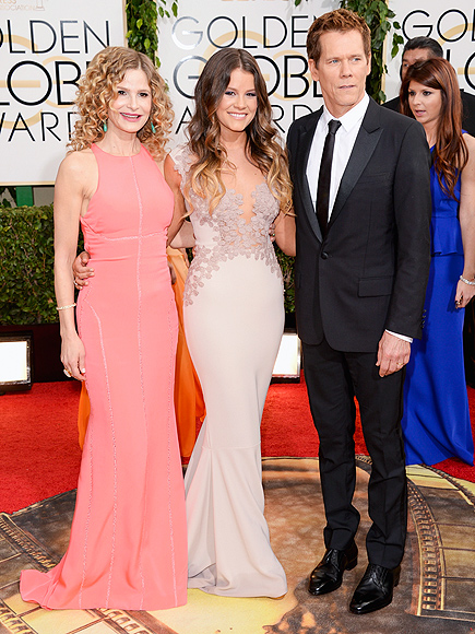 Golden globes 2014 stars with family leo dicaprio jared for Kevin bacon and kyra sedgwick news