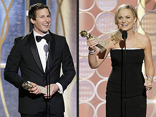Why the SNL Alums Had the Most Fun at the Globes | Golden Globe Awards 2014, Golden Globes, Amy Poehler, Andy Samberg