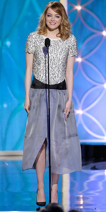 Emma Stone Golden Globes 2014