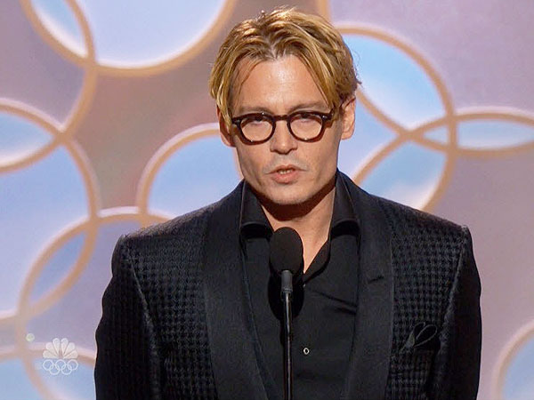 Johnny Depp Golden Globes hair