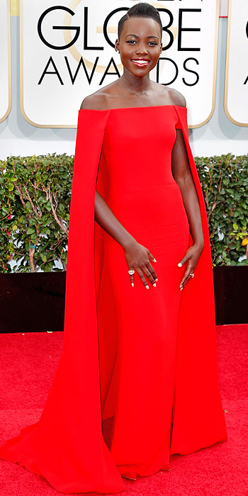 Lupita Nyong'o Golden Globes 2014