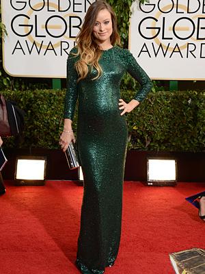 Golden Globes Olivia Wilde Pregnant Bump