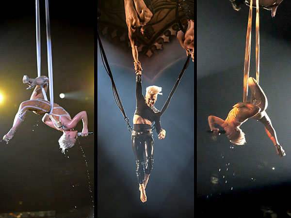 Pink's Grammy Déjà Vu: Singer Lets It All Hang Out (Again) with Aerial Acrobatics| Grammy Awards 2014, Individual Class