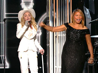 They Do! Queen Latifah Officiates Mass Wedding at Grammys | Madonna, Queen Latifah