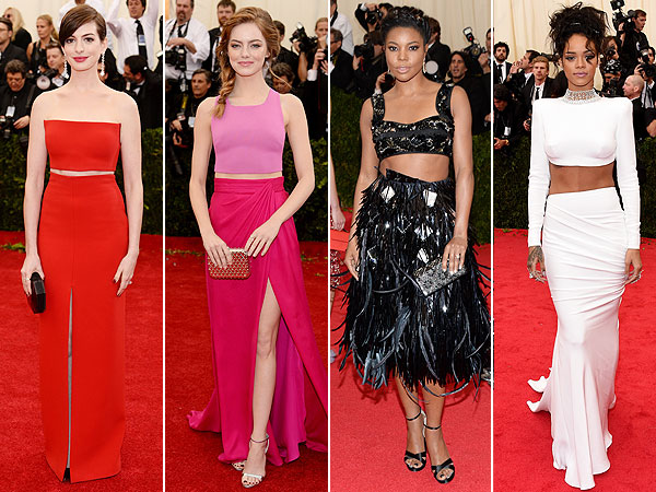 Met Gala crop tops