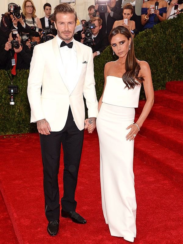 Victoria and David Beckham Met Gala