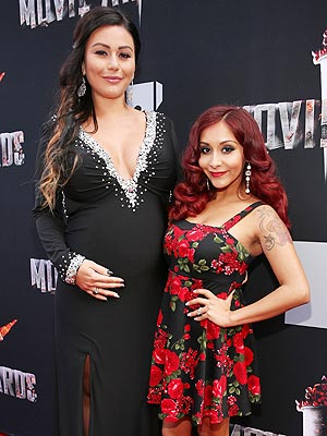 Snooki JWoww Pregnant MTV Movie Awards 2014 Red Carpet