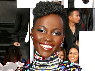 Exclusive Details on Lupita Nyong'o's 'Disco-Inspired' Makeup | MTV Movie Awards 2014, People. com Franchises, Individual Class