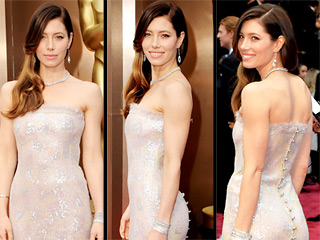 Watch Jessica Biel's Oscars Look Come to Life in Under 30 Seconds | Jessica Biel